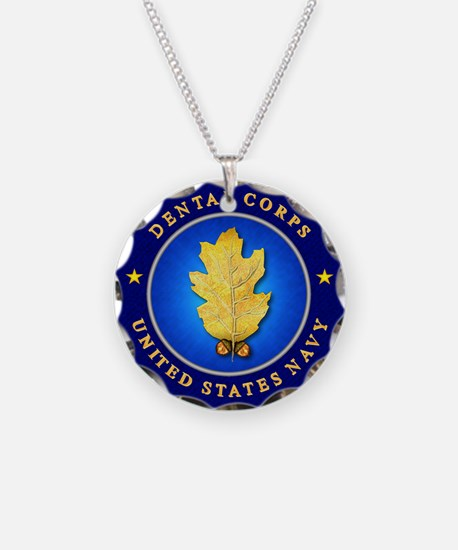 Navy Dental Corps Necklace Circle Charm