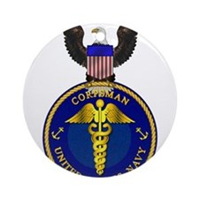 Navy Corpsman Ornament (Round)