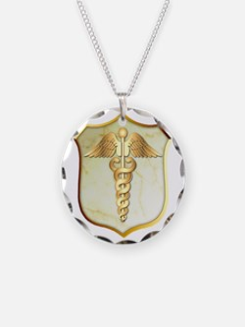 Navy Corpsman USMC Necklace Circle Charm
