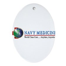 Navy Medicine Ornament (Oval)