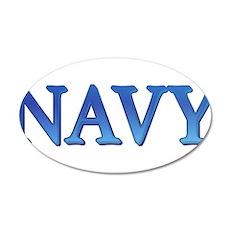 Navy 22x14 Oval Wall Peel
