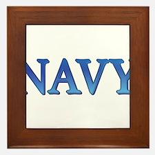 Navy Framed Tile