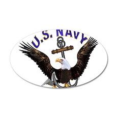 US NAVY (Anchor & Eagle) 22x14 Oval Wall Peel