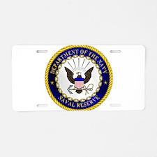 US Navy Reserve Aluminum License Plate