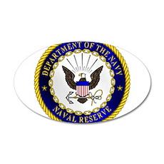 US Navy Reserve 22x14 Oval Wall Peel