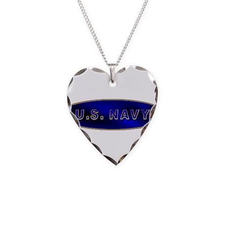 U.S. NAVY Necklace Heart Charm