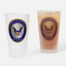 US Navy Retired Drinking Glass