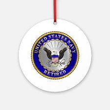 US Navy Retired Ornament (Round)