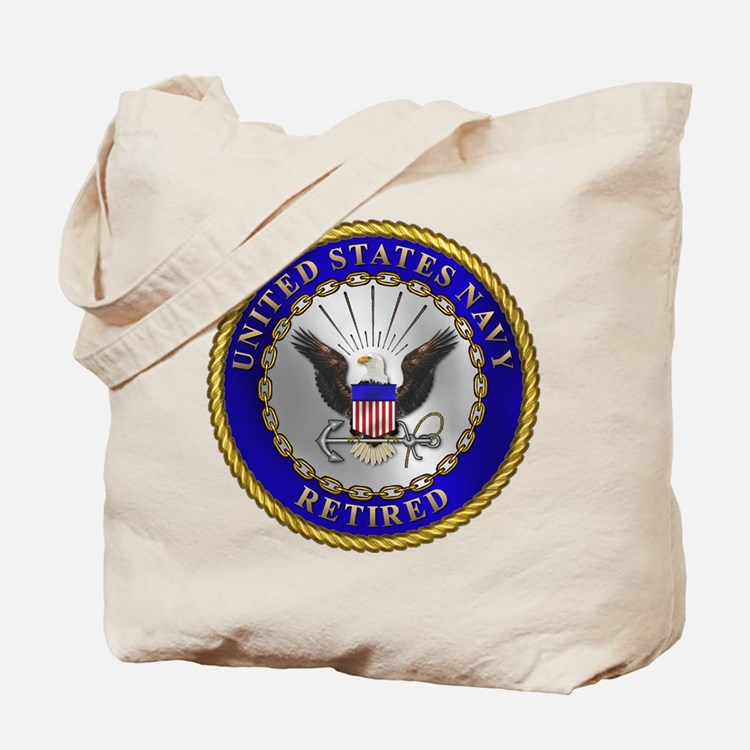 US Navy Retired Tote Bag