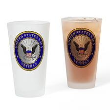 US Navy Veteran Drinking Glass