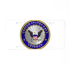 US Navy Veteran Aluminum License Plate