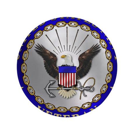 "US Navy Veteran 3.5"" Button (100 pack)"