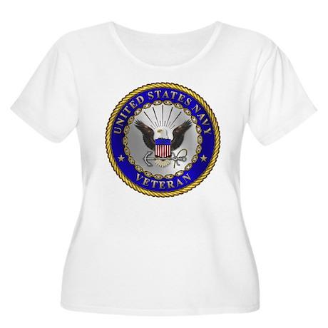 US Navy Veteran Women's Plus Size Scoop Neck T-Shi