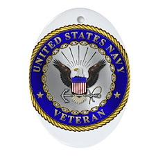 US Navy Veteran Ornament (Oval)