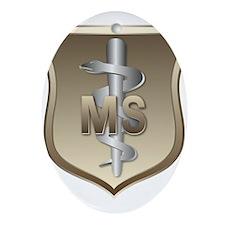 USAF Medical Services Ornament (Oval)