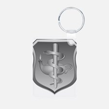 USAF Nurse Aluminum Photo Keychain