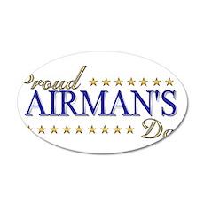Airman's Dad 22x14 Oval Wall Peel