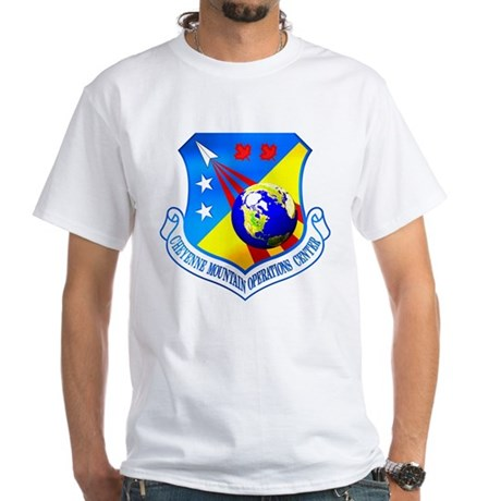 USAF Space Warfare Cmd White T-Shirt