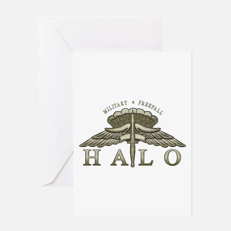 Halo Badge Greeting Card