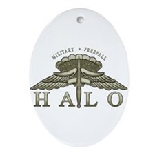 Halo Badge Ornament (Oval)