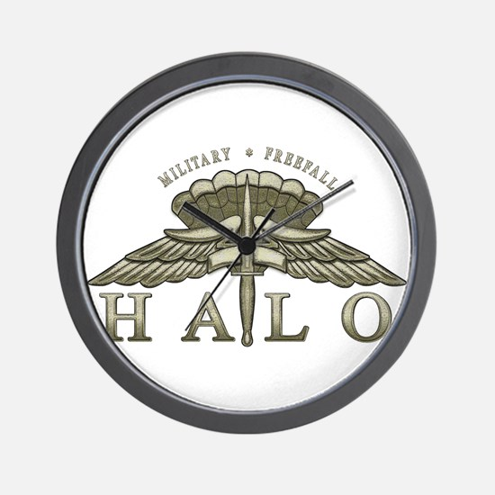 Halo Badge Wall Clock