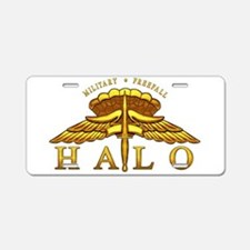 Golden Halo Badge Aluminum License Plate