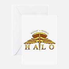 Golden Halo Badge Greeting Card