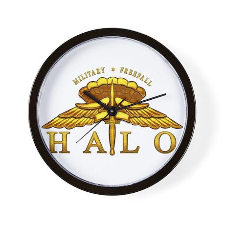 Golden Halo Badge Wall Clock