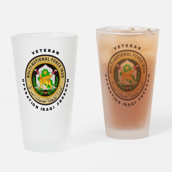 OIF Veteran Drinking Glass