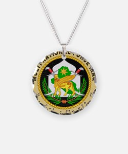Iraq Force Necklace Circle Charm
