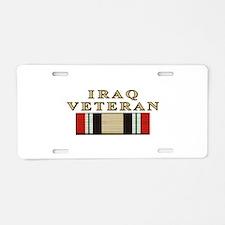 Iraq Vet Aluminum License Plate