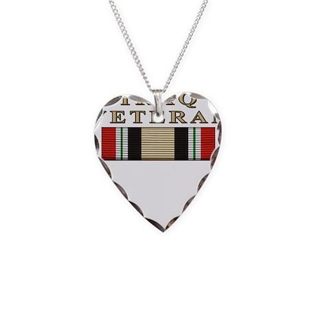 Iraq Vet Necklace Heart Charm