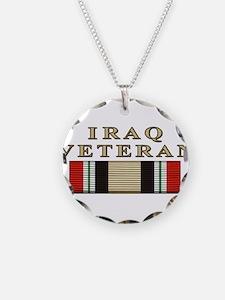 Iraq Vet Necklace Circle Charm