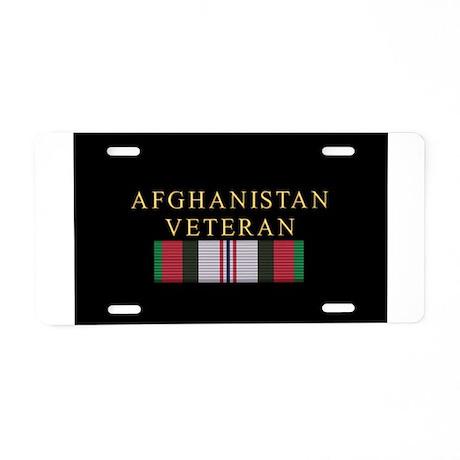 Afghanistan Vet Aluminum License Plate