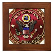 Proud Military Family Framed Tile