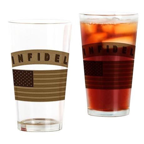 Desert US Infidel Patch Drinking Glass