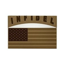 Desert US Infidel Patch Rectangle Magnet