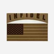 Desert US Infidel Patch Rectangle Magnet