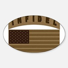 Desert US Infidel Patch Decal