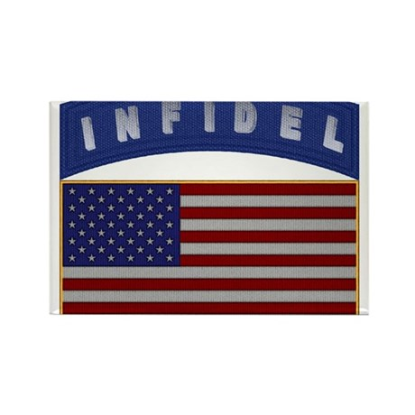 American Infidel Patch Rectangle Magnet