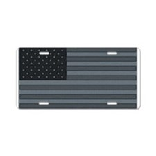 US Flag Urban Patch Aluminum License Plate