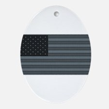 US Flag Urban Patch Ornament (Oval)