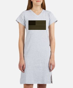 US Flag OD Patch Women's Nightshirt