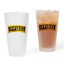 Infidel Tab Drinking Glass