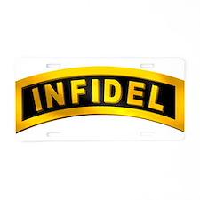 Infidel Tab Aluminum License Plate