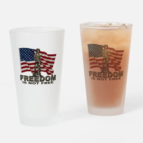 FREEDOM NOT FREE Drinking Glass