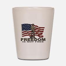 FREEDOM NOT FREE Shot Glass
