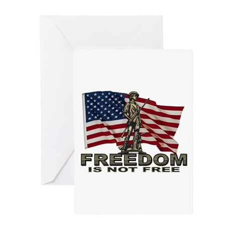 FREEDOM NOT FREE Greeting Cards (Pk of 10)