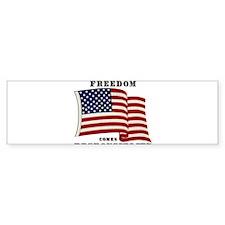 With Freedom(Flag) Bumper Sticker