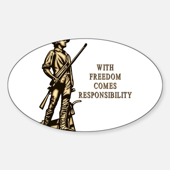 With Freedom(MM) Sticker (Oval 10 pk)